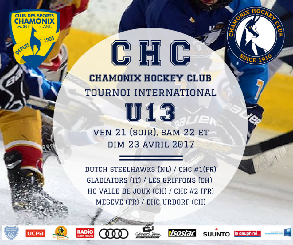 CHC TOURNOI INTERNATIONAL U13 2017 - RÉSULTATS EN DIRECT